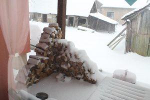 Schnee in Kroatien Anfang März 2018