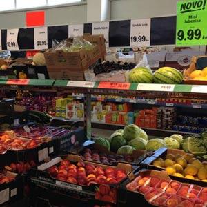 Viel Obst und Gemüse aus heimischen Anbau auch im Discounter