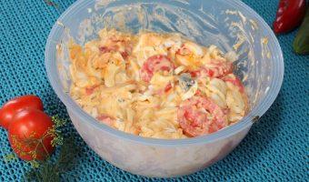 Eiersalat mit Tomaten